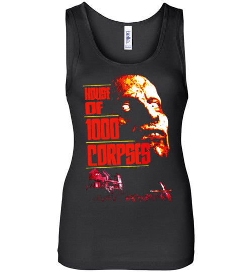 House of 1000 Corpses, Rob Zombie,Captain Spaulding, Classic Horror Film,v2,Bella Wide Strap Tank