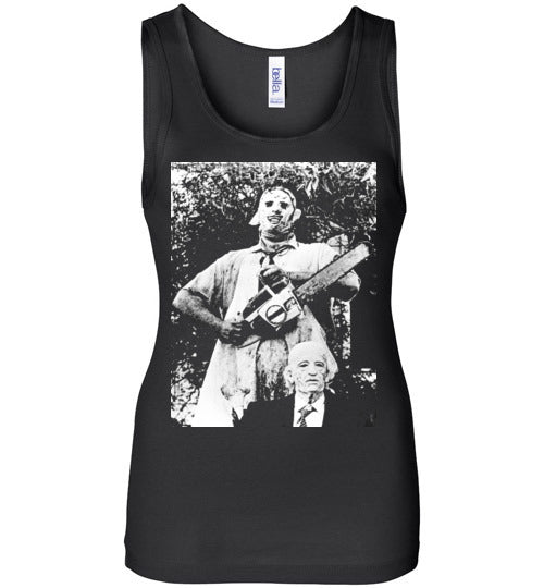 The Texas Chain Saw Massacre,1974 horror film,Leatherface,Ed Gein, slasher,v8a,Bella Wide Strap Tank