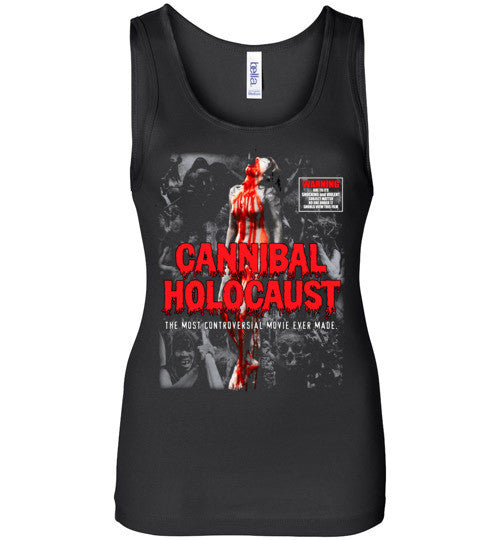 Cannibal Holocaust Ruggero Deodato Horror Zombies Movie, v4, Bella Wide Strap Tank