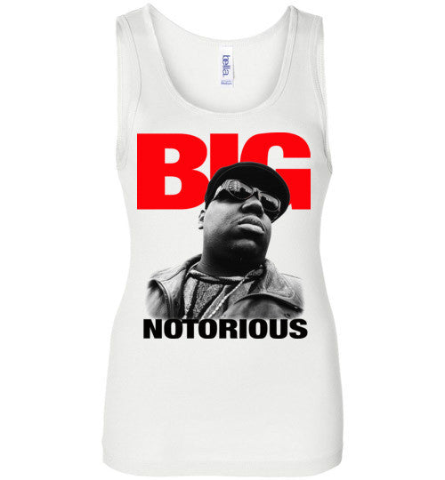 Notorious BIG Biggie Smalls Big Poppa Frank White Christopher Wallace,Bad Boy Records, Hip Hop New York Brooklyn,v4,Bella Wide Strap Tank