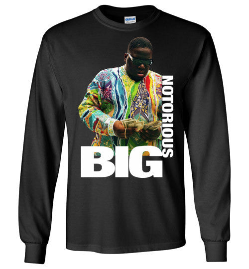 Notorious BIG Biggie Smalls Big Poppa Frank White Christopher Wallace,Bad Boy Records, Hip Hop New York Brooklyn,v8b, Gildan Long Sleeve T-Shirt