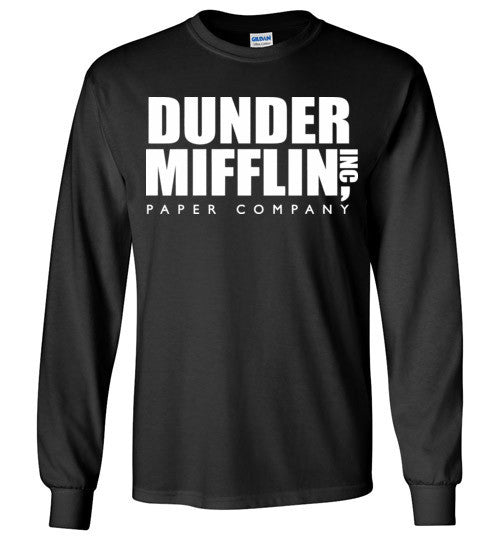 Dunder Mifflin Inc Paper Company The Office TV Show, Gildan Long Sleeve T-Shirt