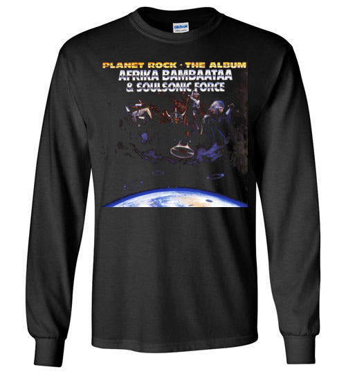 Afrika Bambaataa & Soulsonic Force , New York, Electro Funk,Universal Zulu Nation,Old School Hip Hop,Planet Rock, v4, Gildan Long Sleeve T-Shirt