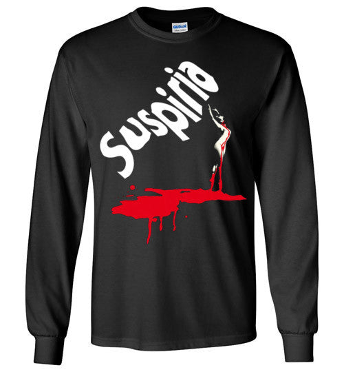 SUSPIRIA Dario Argento, Goblin , Italian Horror Movie , Gildan Long Sleeve T-Shirt