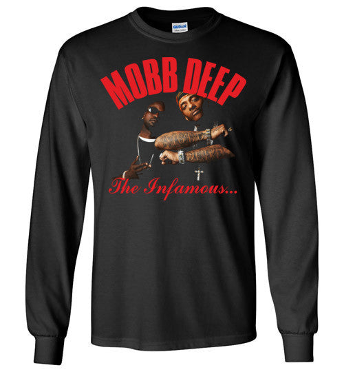 Mobb Deep,Havoc,Prodigy, East Coast Hip Hop,The Infamous,New York,v3a, Gildan Long Sleeve T-Shirt