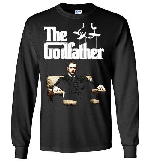 The Godfather Michael Corleone Mafia Al Pacino v3a , Gildan Long Sleeve T-Shirt