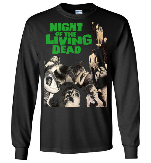 Night Of The Living Dead Horror Zombie Splatter George Romero , Gildan Long Sleeve T-Shirt