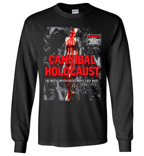 Cannibal Holocaust Ruggero Deodato Horror Zombies Movie, v4, Gildan Long Sleeve T-Shirt