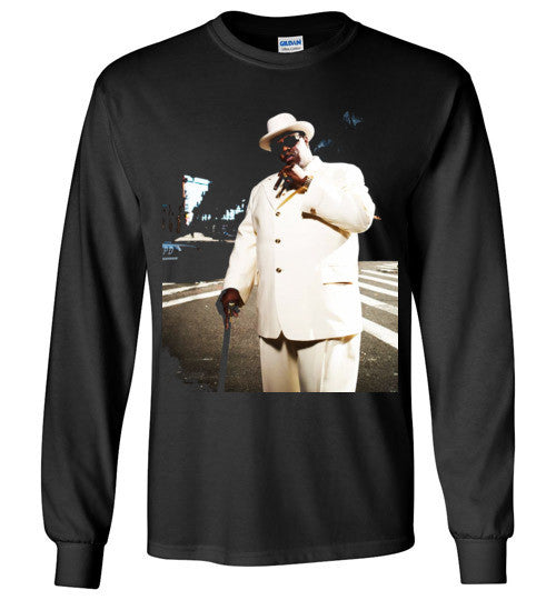 Notorious BIG Biggie Smalls Big Poppa Frank White Christopher Wallace,Bad Boy Records, Hip Hop New York Brooklyn,v7, Gildan Long Sleeve T-Shirt