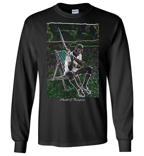 Hunter S Thompson, gonzo journalism,Fear and Loathing in Las Vegas, v3, Gildan Long Sleeve T-Shirt