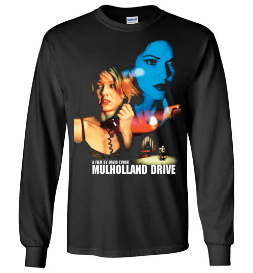 Mulholland Drive , David Lynch,mystery film, Naomi Watts,Betty Elms, Los Angeles,Movie, v4, Gildan Long Sleeve T-Shirt