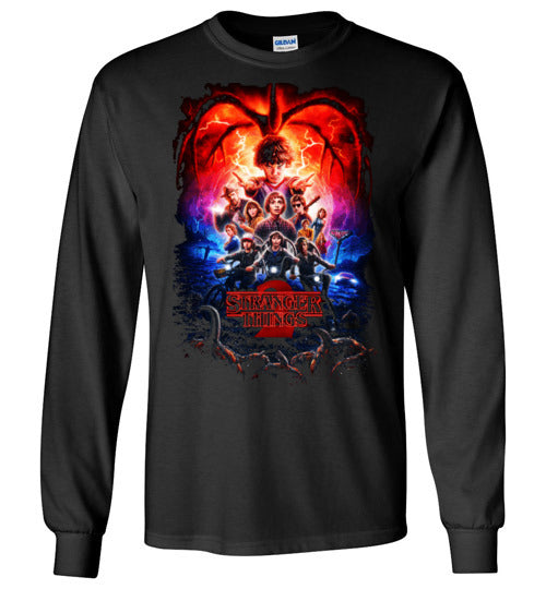 Stranger Things shirt Tee T-shirt Youth / Kids Sizes , Tv Show/Sci Fi/ Netflix Series shirt ,v12,Gildan Long Sleeve T-Shirt