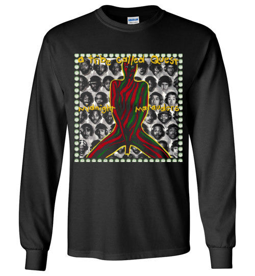 ATCQ A Tribe called Quest Classic Hip Hop New York City Midnight Marauders 1993 Phife Dawg Q-tip ,v5, Gildan Long Sleeve T-Shirt