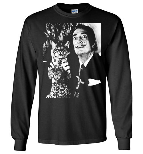 Salvador Dali Cat Ocelot,Long Sleeve T-Shirt