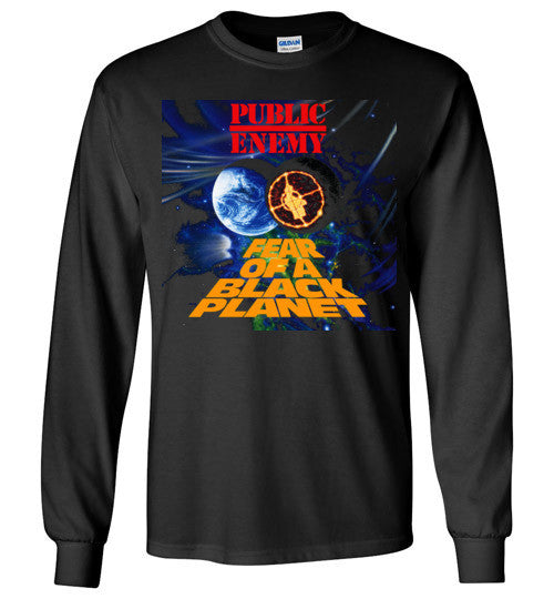 Public Enemy Fear Of A Black Planet Album Cover, Chuck D, Flavor Flav,Terminator X, Classic Hip Hop ,v5, Gildan Long Sleeve T-Shirt