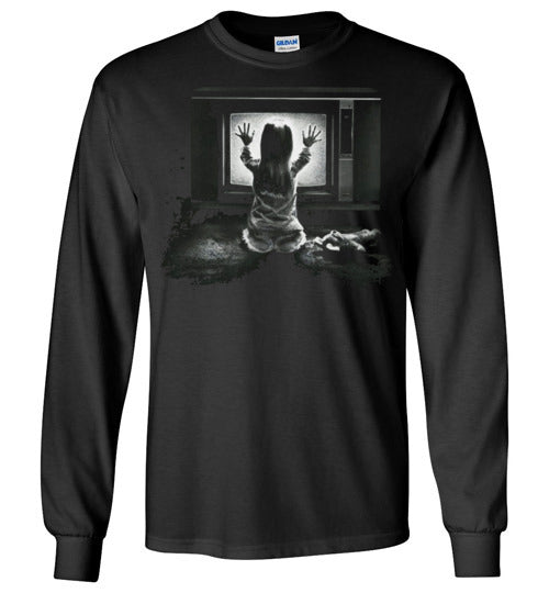 Poltergeist movie 1982,supernatural horror film, Steven Spielberg,ghosts, v2,Gildan Long Sleeve T-Shirt