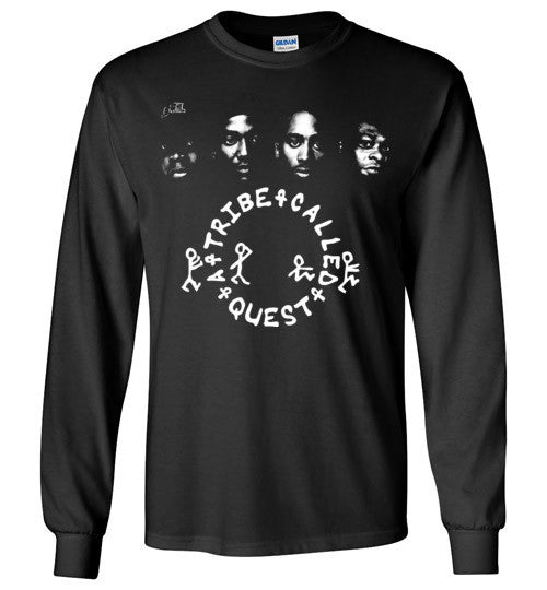 ATCQ A Tribe called Quest Classic Hip Hop New York City Low End Theory Phife Dawg Q-tip ,v7, Gildan Long Sleeve T-Shirt