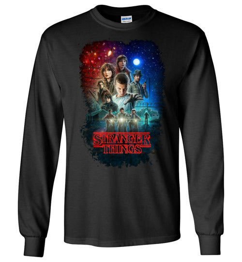 Stranger Things , Tv Show/Sci Fi/ Netflix Series shirt ,v7, Youth - Kids Size,Gildan Long Sleeve T-Shirt