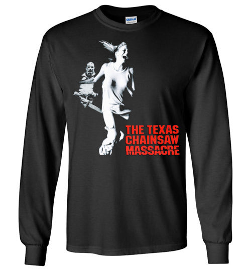 The Texas Chain Saw Massacre,1974 horror film,Leatherface,Ed Gein, slasher,v2,Gildan Long Sleeve T-Shirt