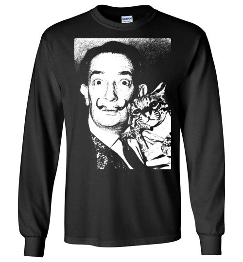 Salvador Dali Cat Ocelot,v2,Long Sleeve T-Shirt