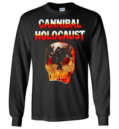 Cannibal Holocaust Ruggero Deodato Horror Zombies Movie ,v5, Gildan Long Sleeve T-Shirt
