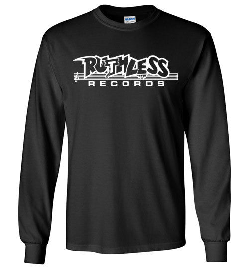 Ruthless Records, Eazy e,nwa,ice cube,dr dre,compton, Hip Hop , White Print , Gildan Long Sleeve T-Shirt