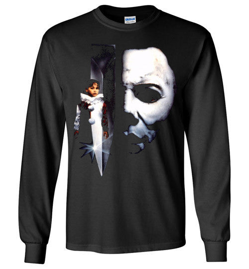 HALLOWEEN MICHAEL MYERS John Carpenter Classic Horror Movie v5 , Gildan Long Sleeve T-Shirt
