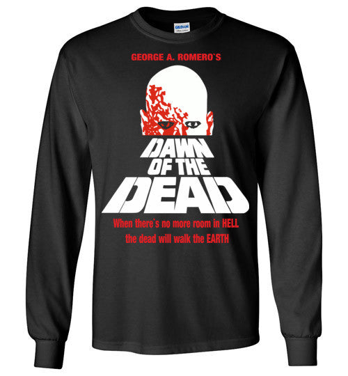 Dawn of the Dead vintage retro classic horror movie zombie , Gildan Long Sleeve T-Shirt