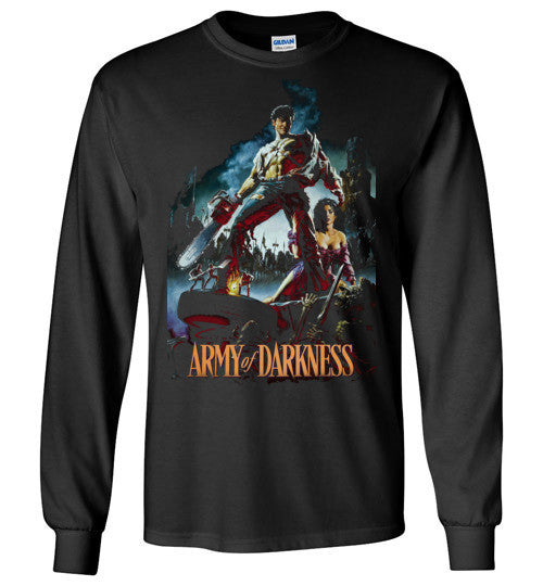 Evil Dead Army Of Darkness Horror Zombies v7, Gildan Long Sleeve T-Shirt