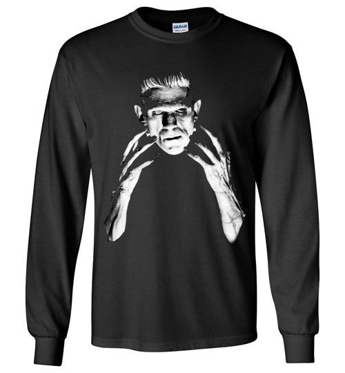 Frankenstein Movie Boris Karloff 1931  Gildan Long Sleeve T-Shirt Black