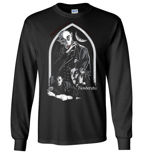 Nosferatu Vampire Dracula Classic Horror Movie , Gildan Long Sleeve T-Shirt , v5