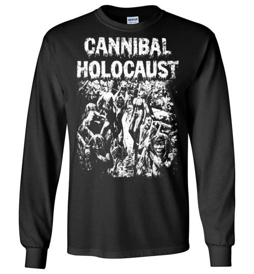 Cannibal Holocaust Ruggero Deodato Horror Zombies Movie ,v6, Gildan Long Sleeve T-Shirt