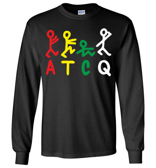 ATCQ A Tribe called Quest Classic Hip Hop New York City Low End Theory Phife Dawg Q-tip ,v8b, Gildan Long Sleeve T-Shirt