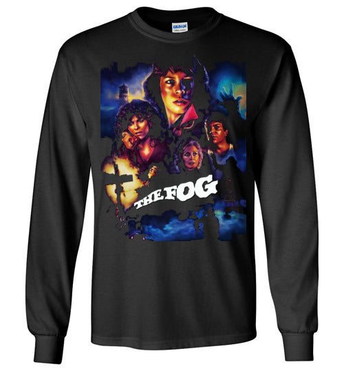 The Fog Horror Movie John Carpenter Vintage Rare 1980 Cult Film, zombie movie,Jamie Lee Curtis ,v4,Gildan Long Sleeve T-Shirt