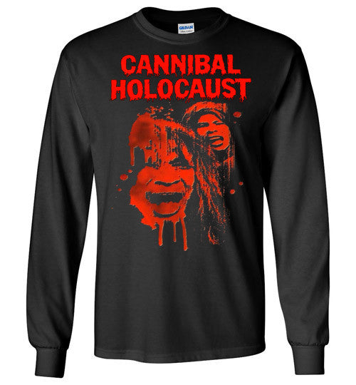 Cannibal Holocaust Ruggero Deodato Horror Zombies Movie, v1, Gildan Long Sleeve T-Shirt