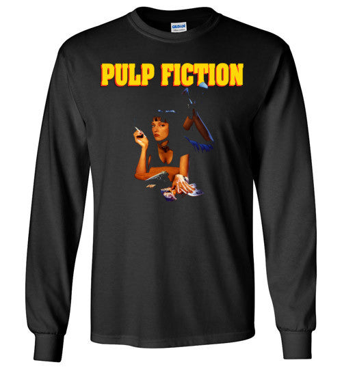 Pulp Fiction Mia Wallace , quentin tarantino, mobsters, john travolta, vincent, jules, v7, Gildan Long Sleeve T-Shirt
