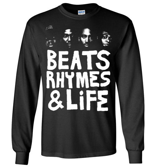 ATCQ A Tribe called Quest Classic Hip Hop New York City Beats Rhymes & Life Phife Dawg Q-tip ,v6, Gildan Long Sleeve T-Shirt