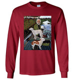 Goodfellas Painting , Mafia , Robert De Niro ,Joe Pesci, Ray Liotta, Gildan Long Sleeve T-Shirt