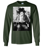 Jean Michel Basquiat 5 Artist Graffiti Icon Art Genius Designer , Gildan Long Sleeve T-Shirt