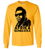 Afrika Bambaataa ,South Bronx, New York, Electro Funk,Universal Zulu Nation,Old School Hip Hop,Planet Rock,v2, Gildan Long Sleeve T-Shirt
