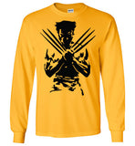 Logan Wolverine Xmen Marvel Super Hero v1, Gildan Long Sleeve T-Shirt