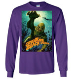 Creature from the Black Lagoon Classic Horror Movie, v3, Gildan Long Sleeve T-Shirt