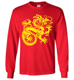 Chinese Dragon v2 , Gildan Long Sleeve T-Shirt