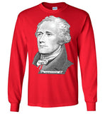 Alexander Hamilton Founding Father America Portrait Musical ,v3, Gildan Long Sleeve T-Shirt