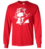 LUDWIG VAN BEETHOVEN Portrait Composer Classical Music Romantic ,v3,Long Sleeve T-Shirt