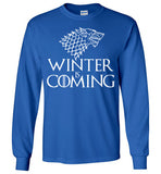 Game Of Thrones Winter is Coming, v2, Gildan Long Sleeve T-Shirt