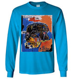 Jean Michel Basquiat Artist Graffiti Icon Art Genius Designer New York City Fashion Street Wear v2, Gildan Long Sleeve T-Shirt