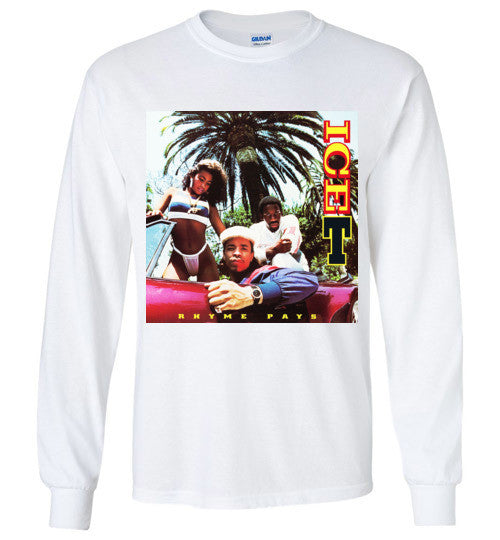 Ice-T Rhyme Pays Classic Hip Hop , Gildan Long Sleeve T-Shirt