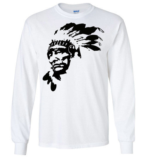 Native American Indian Chief , Gildan Long Sleeve T-Shirt