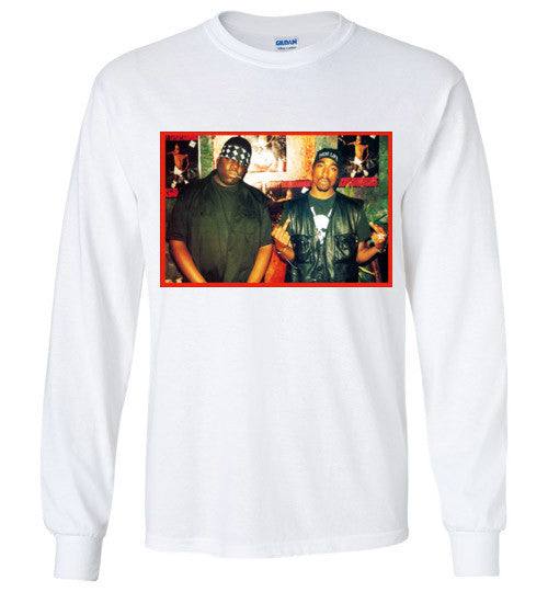 Tupac 2pac Shakur Makaveli Biggie Death Row hiphop v6, Gildan Long Sleeve T-Shirt